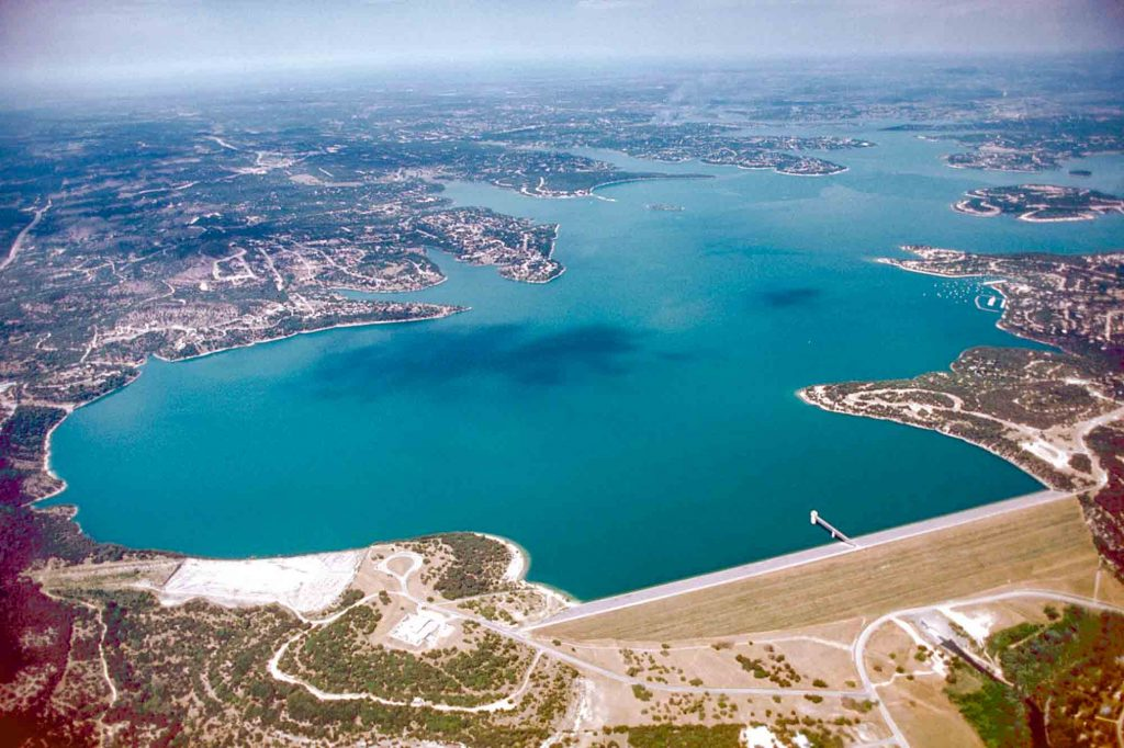 Aerial photo of Canyon Lake, Texas