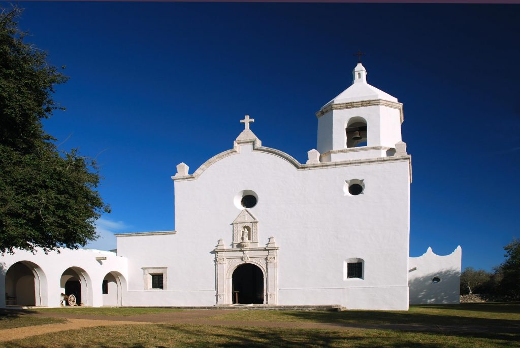 Mission Espiritu Santo in Goliad State Park near San Antonio