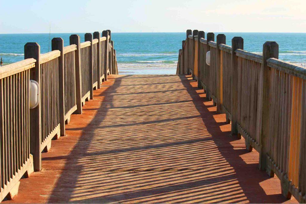 Boardwalk on South Padre Island, Texas