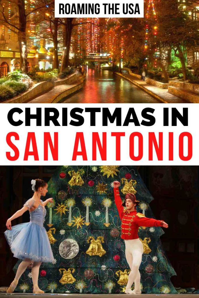 Christmas in San Antonio Pinterest graphic