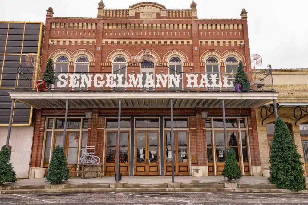 Sengelmann Hall in Schulenburg, Texas