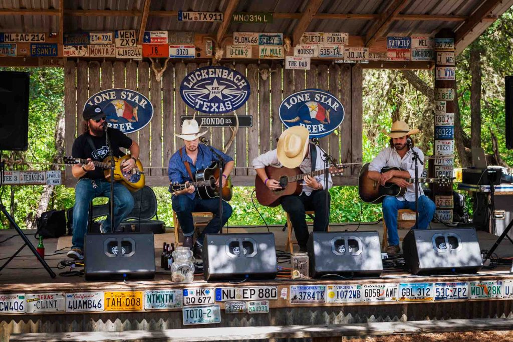 Country music band in Luckenbach, Texas