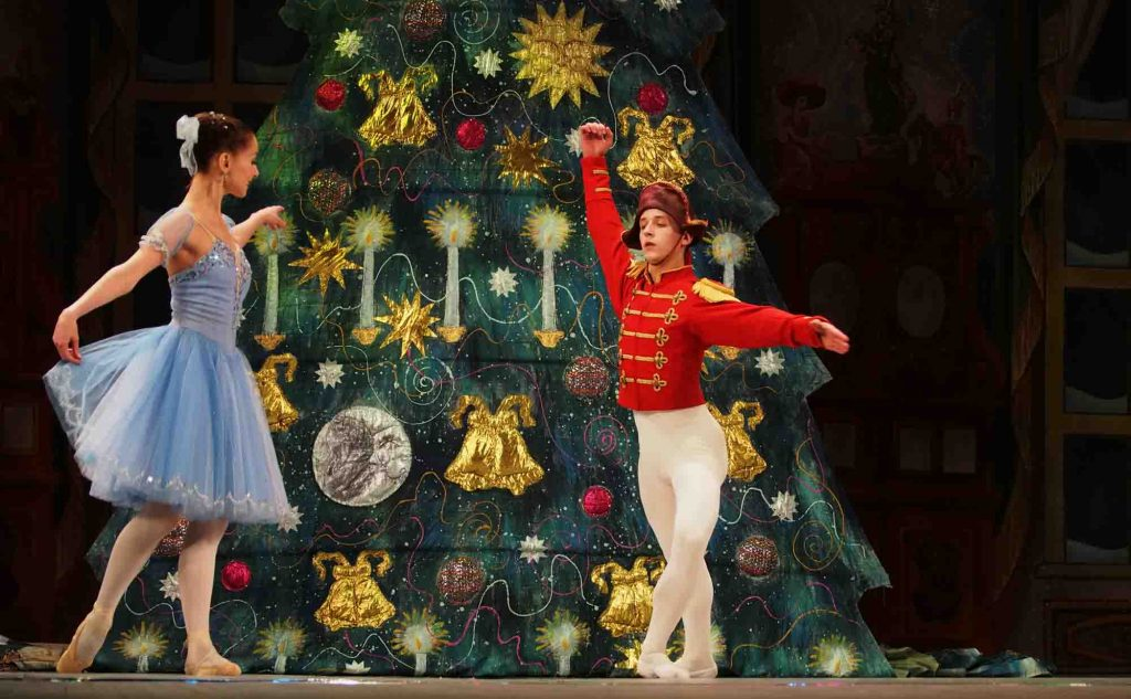 Nutcracker ballet during Christmas