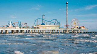 Historic Pleasure Pier, in Galveston, Texas