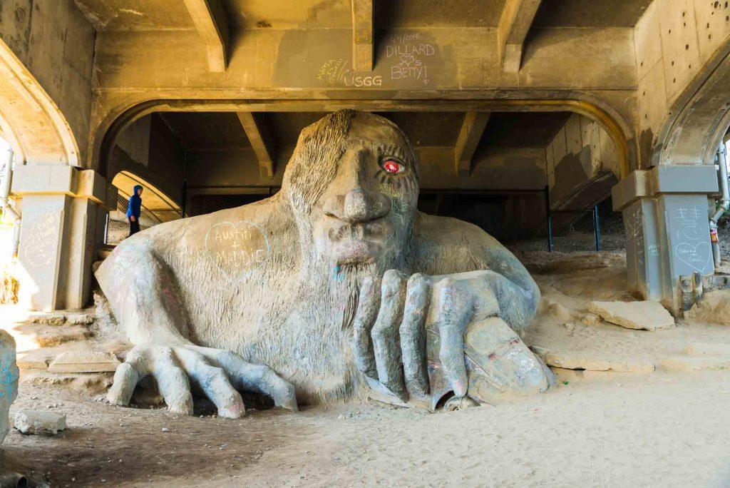 Fremont Troll Statue in Seattle
