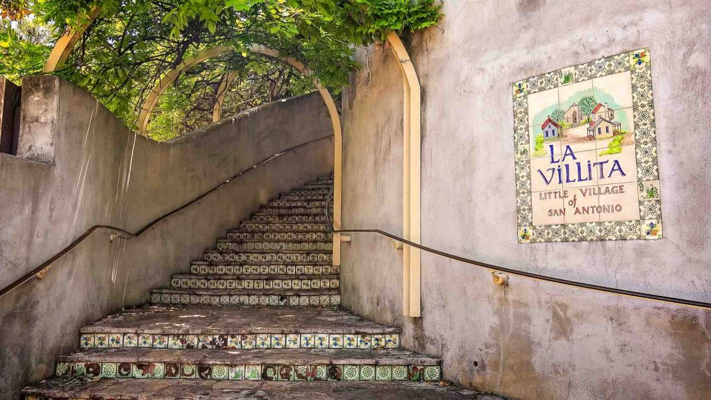 Steps at La Villita in San Antonio, Texas