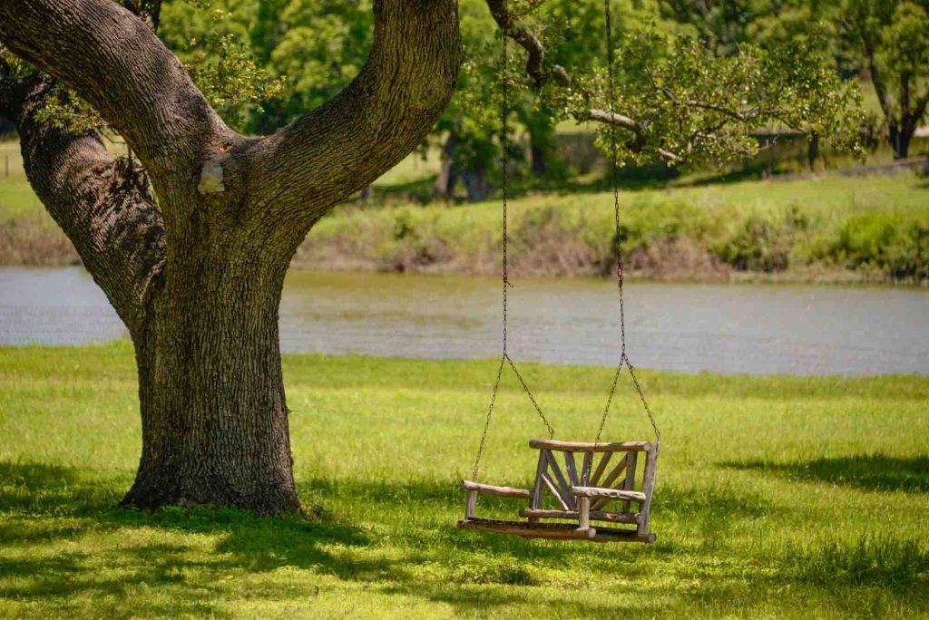 Lady Bird swing in Lyndon B Johnson National Park in Texas
