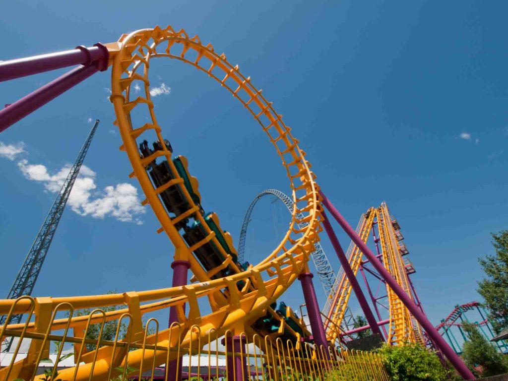 Roller Coaster at Six Flags Fiesta, San Antonio