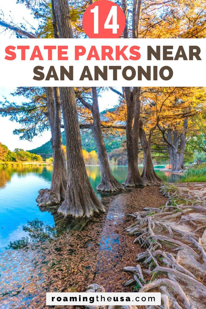 State parks near San Antonio, Texas, Pinterest graphic