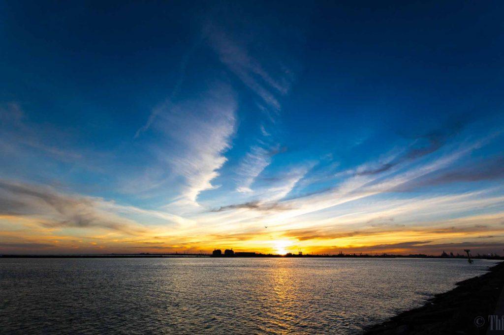 Sunset in Freeport, Texas