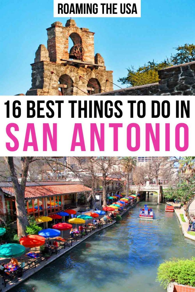Best things to do in San Antonio Pinterest graphic