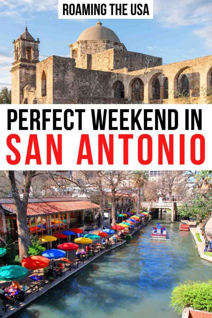 Weekend in San Antonio Pinterest graphic