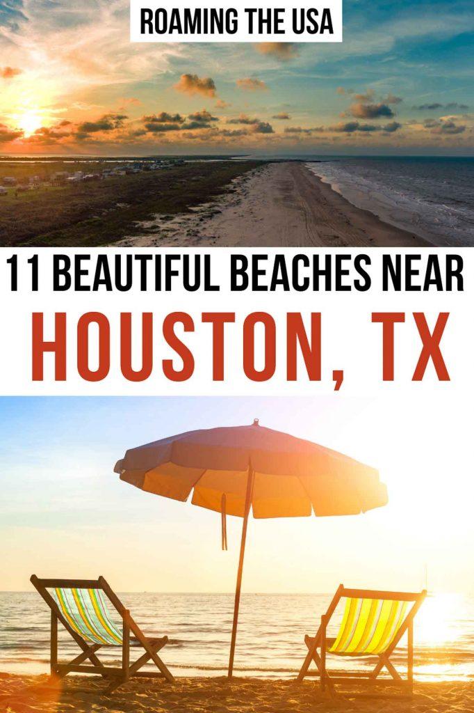 Beautiful Beaches Near Houston TX, Pinterest graphic