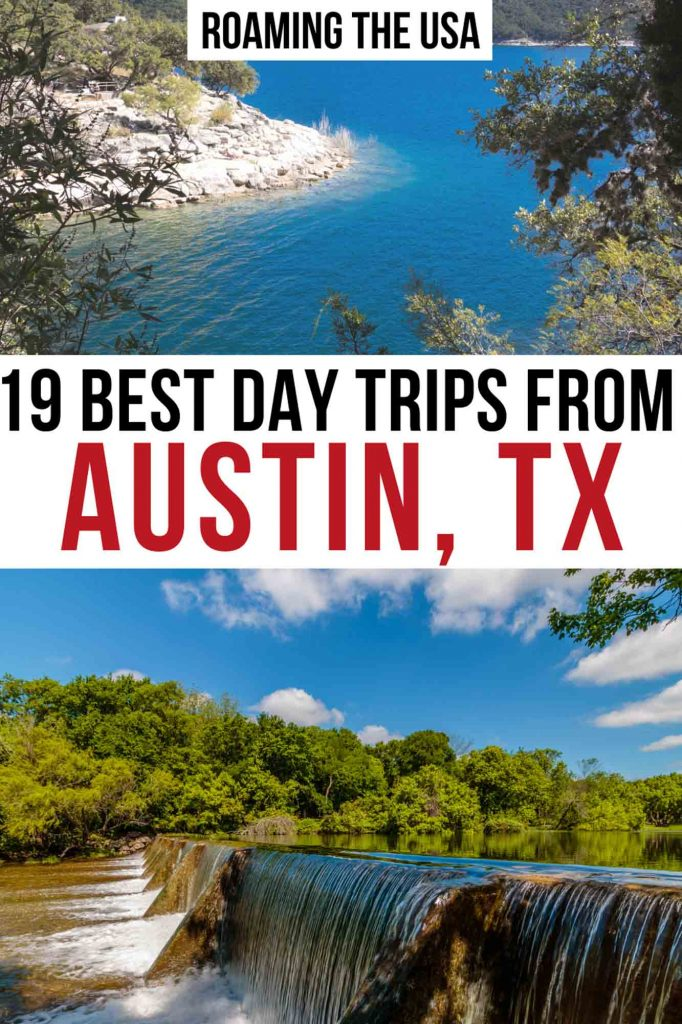 Best Day trips from Austin, Texas Pinterest Graphic
