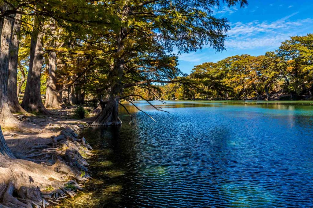 Crystal clear Frio River in Garner State Park is one of the best hiking in San Antonio