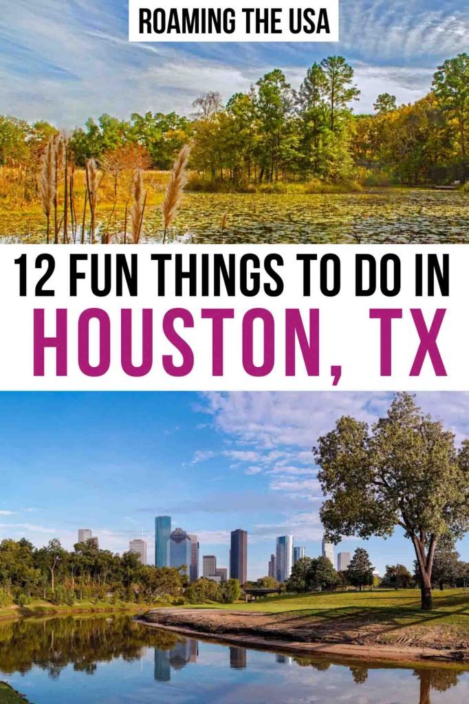 Fun things to do in Houston, Texas Pinterest graphic