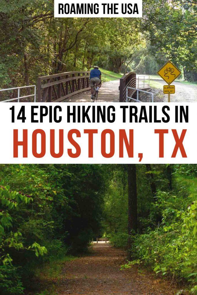 Hiking in Houston  Pinterest graphic