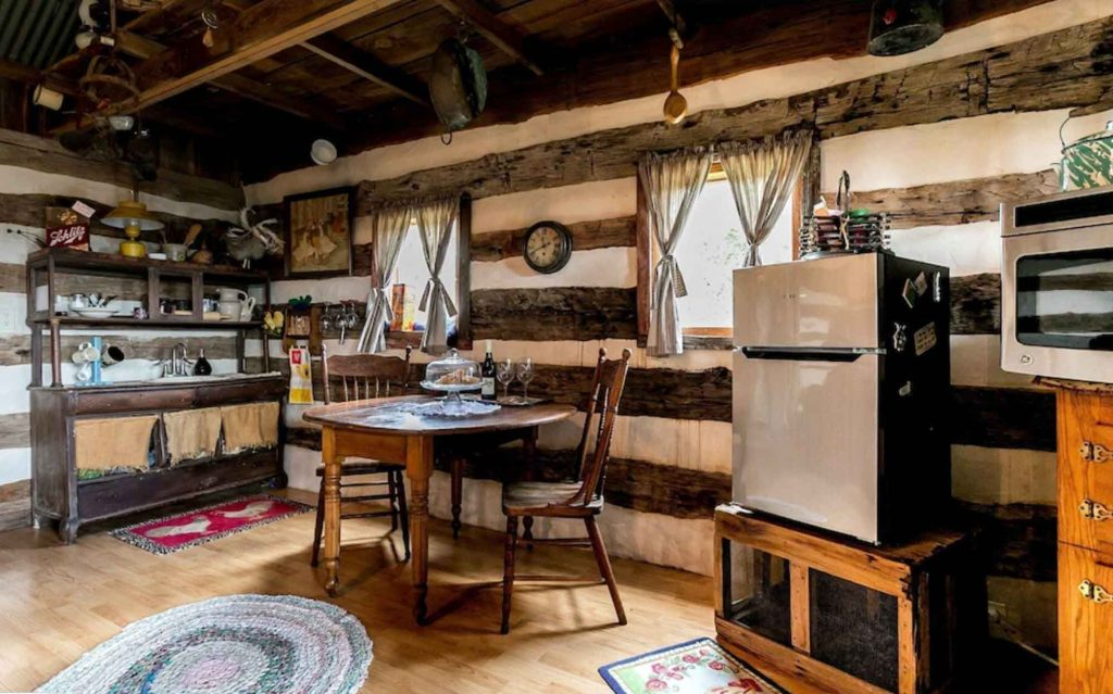 This historic cabin is one of the Most Romantic Cabins in Fredericksburg
