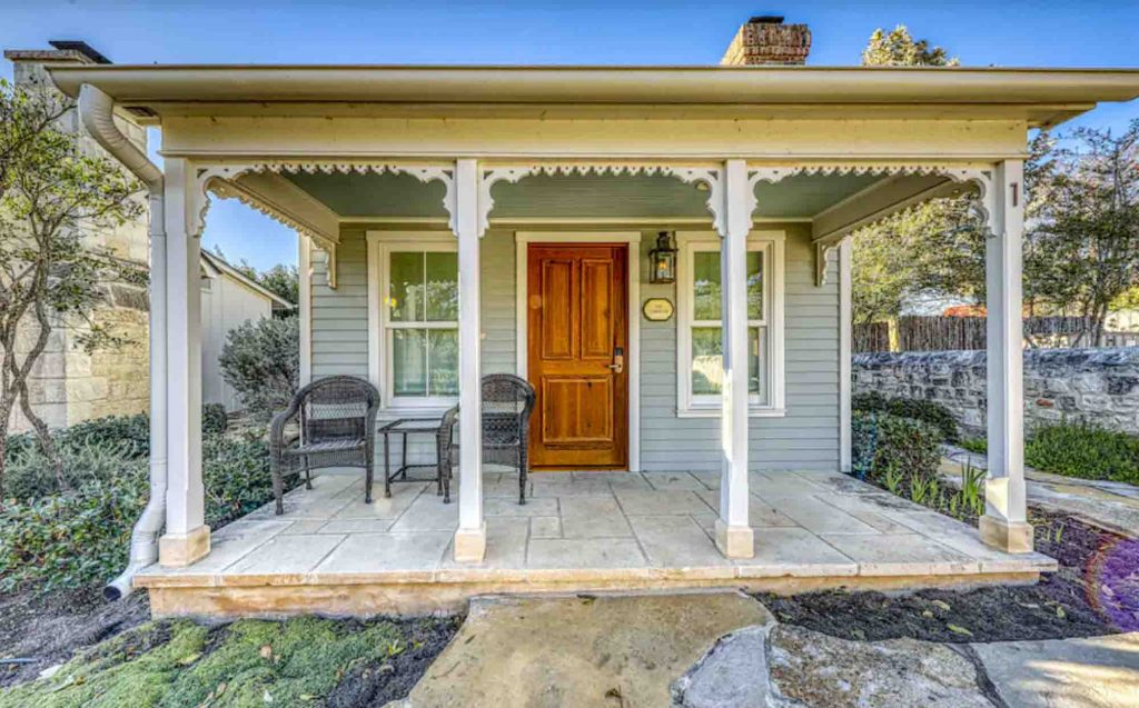 This Lovely Victorian cottage  is one of the Most Romantic Cabins in Fredericksburg TX