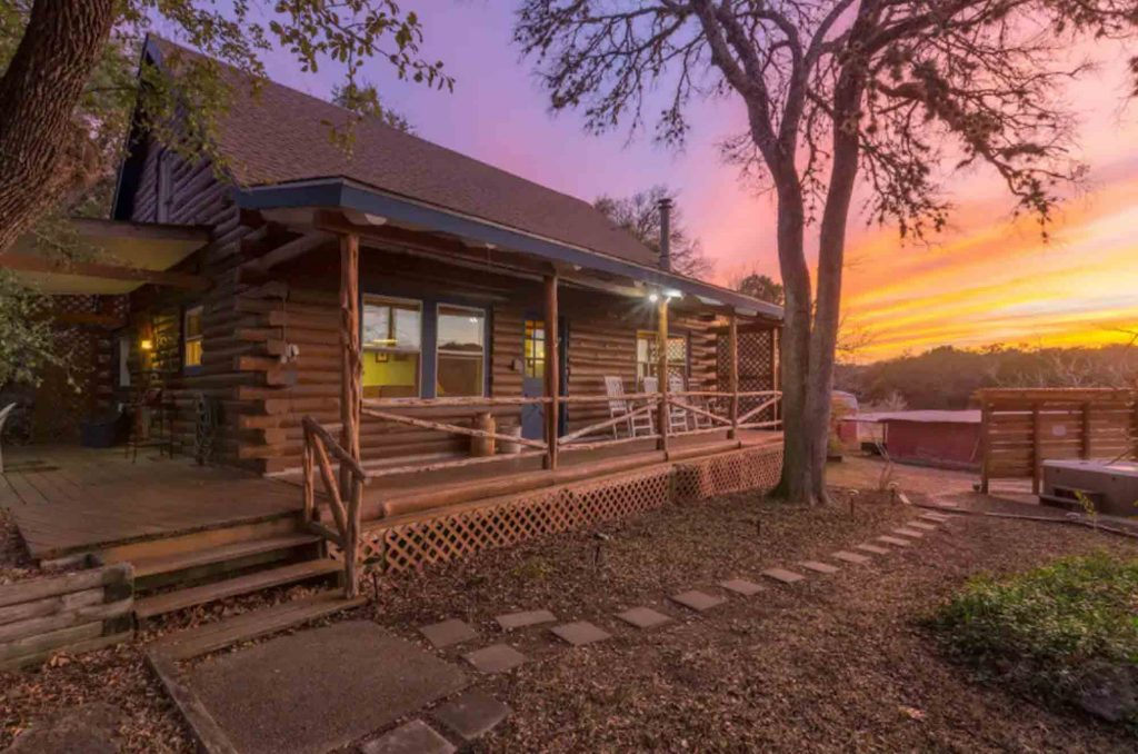 Gorgeous Log Home is one of the most romantic cabins in Texas