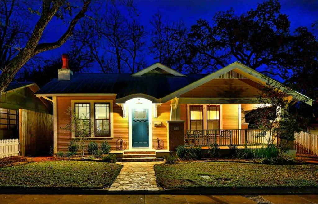 This charming house rental is one of the best Airbnb in Fredericksburg TX