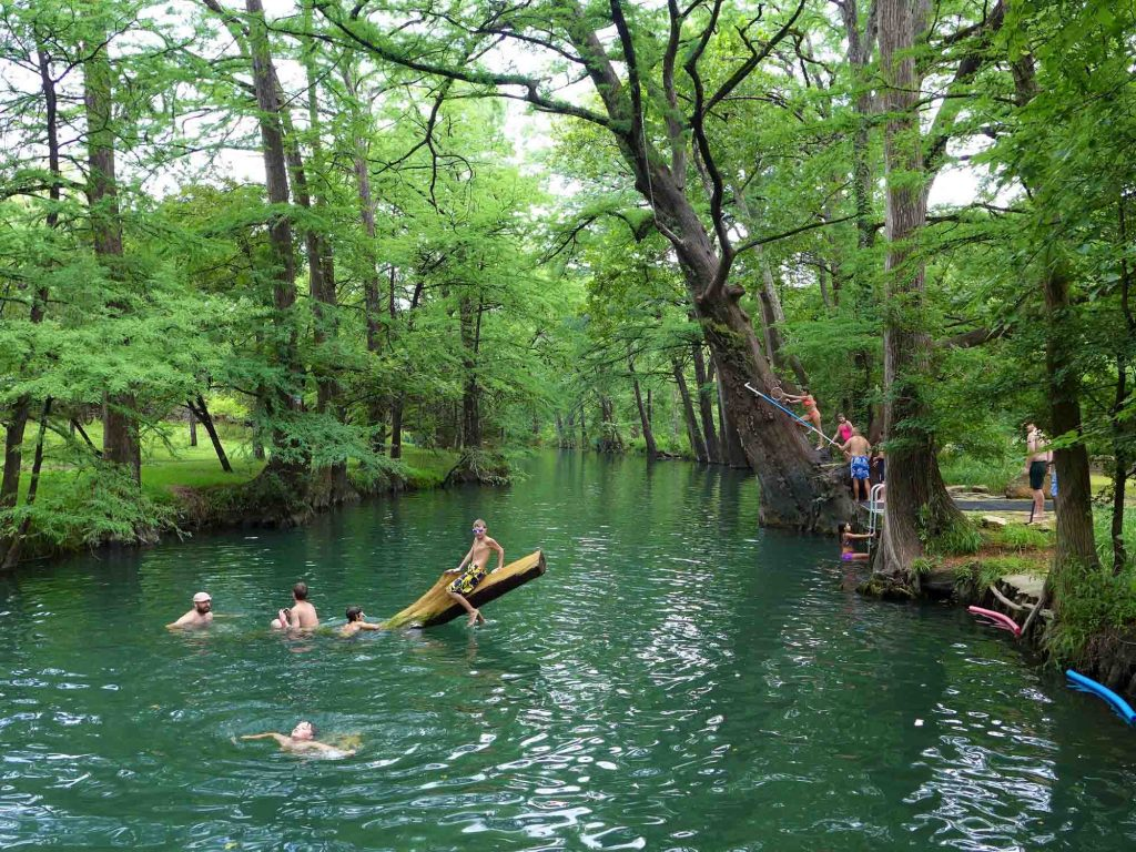 Cooling of at Blue Hole Regional Park is one of the fun things to do in Wimberley, TX