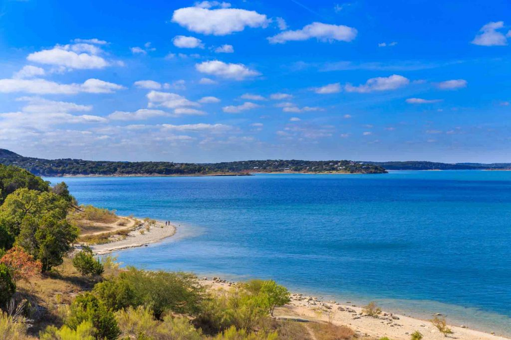 Relaxing at Comal Park Beach is one of the fun things to do in Canyon Lake, Texas