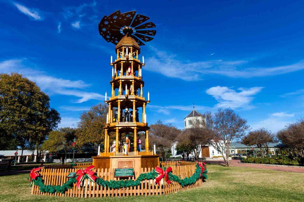 Christmas Pyramid in Fredericksburg, Texas