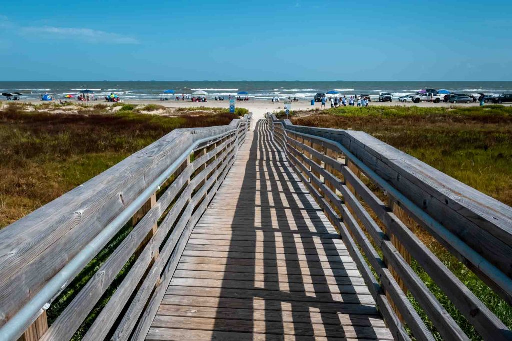 East Beach is one of the best beaches near Houston