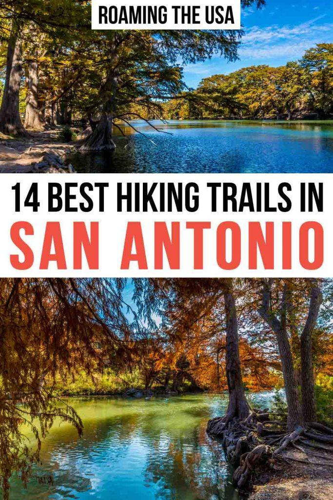 Hiking in San Antonio Pinterest Graphic