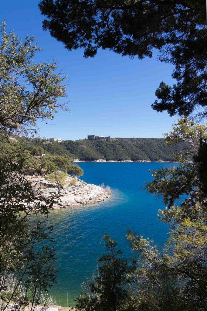 Lake Travis is one of the best outdoor day trips from Austin