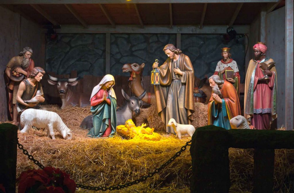 The Nativity Scene Display during Christmas