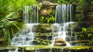 Waterfall in Zilker Botanical Park, Austin, Texas
