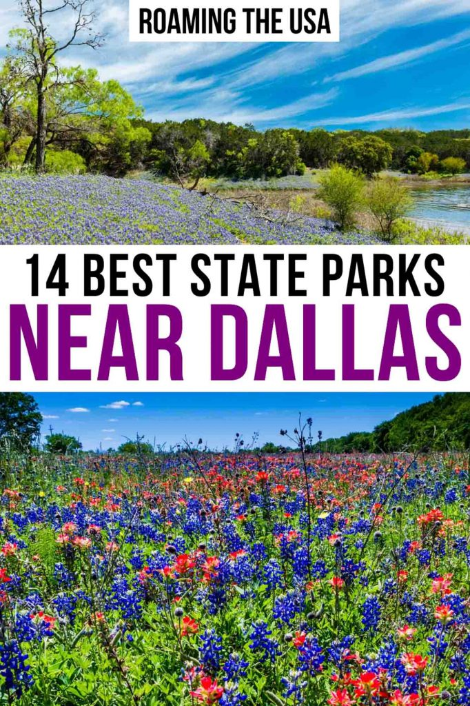 Beautiful State Parks Near Dallas  Pinterest graphic