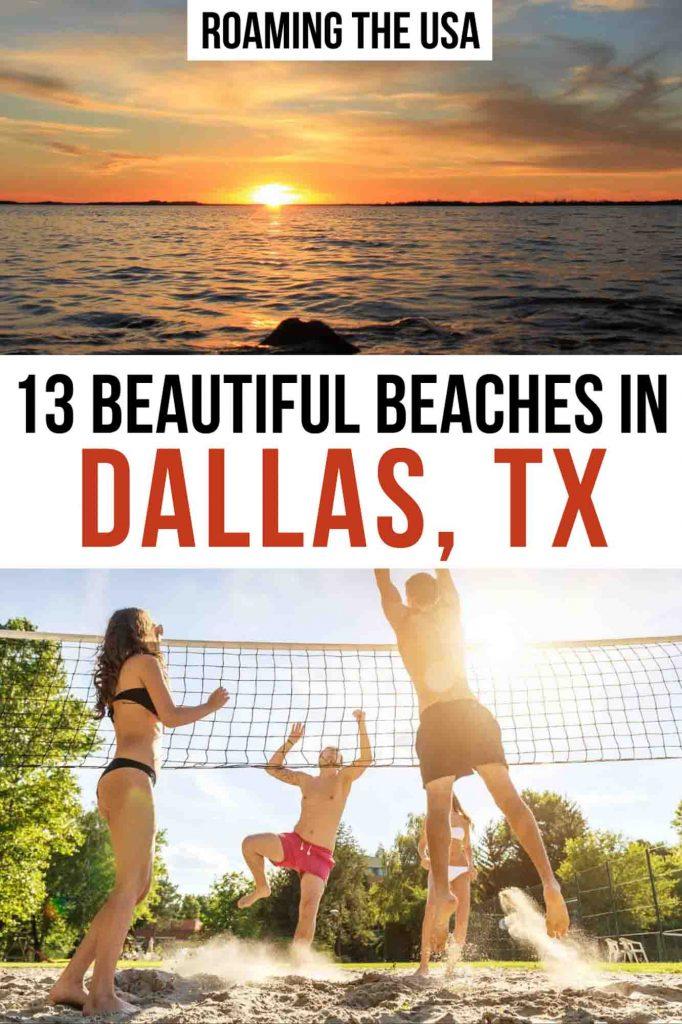 Beautiful beaches in Dallas Pinterest graphic