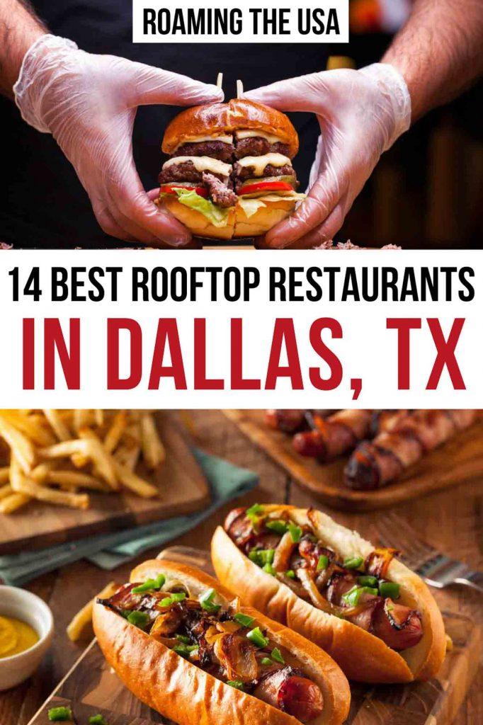 Best Rooftop Restaurants in Dallas Pinterest Graphic