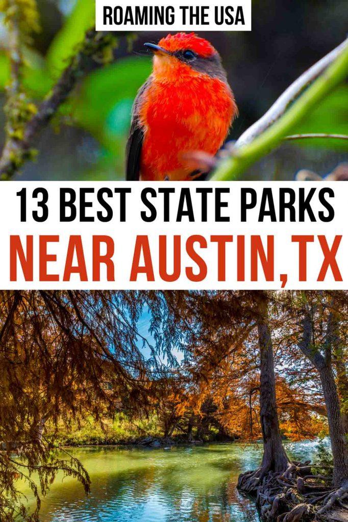 Best State Parks Near Austin Pinterest graphic