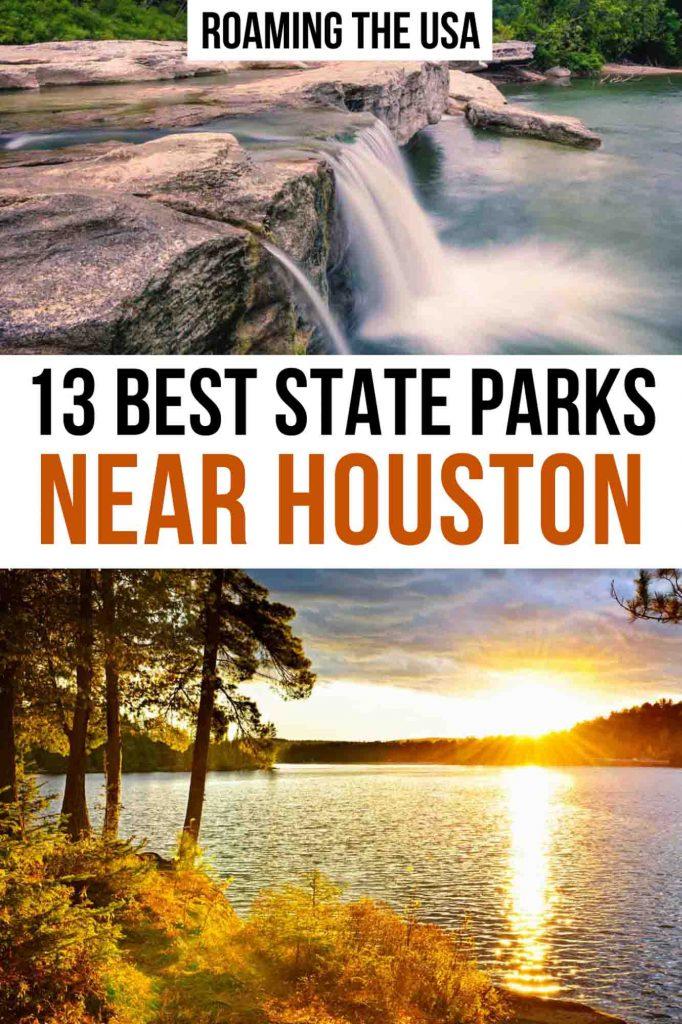 Best State Parks Near Houston Pinterest graphic
