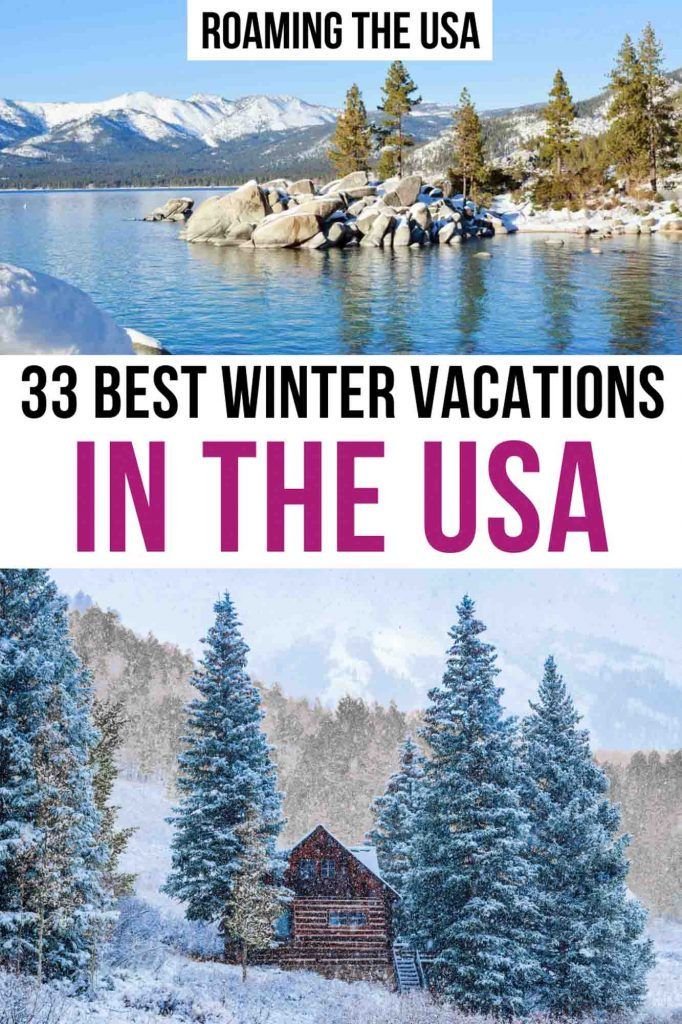 Best Winter Vacations in the USA Pinterest Graphic