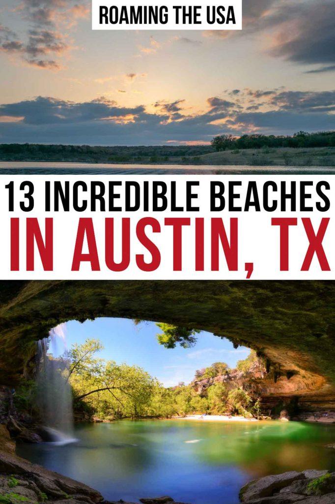 Best beaches in Austin  Pinterest Graphic