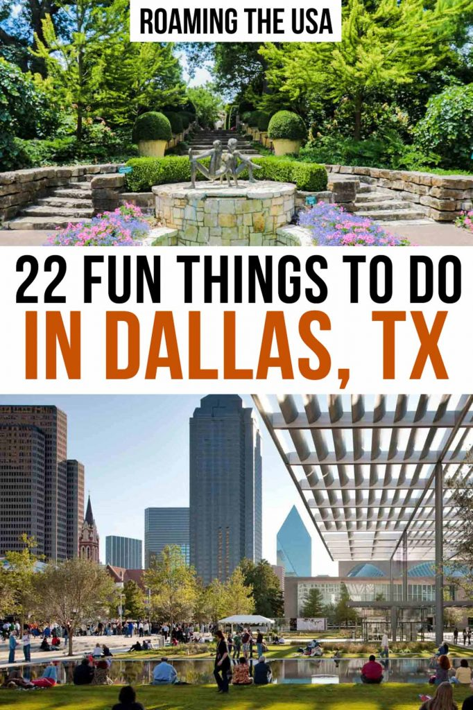 Fun things to do in Dallas Pinterest Graphic