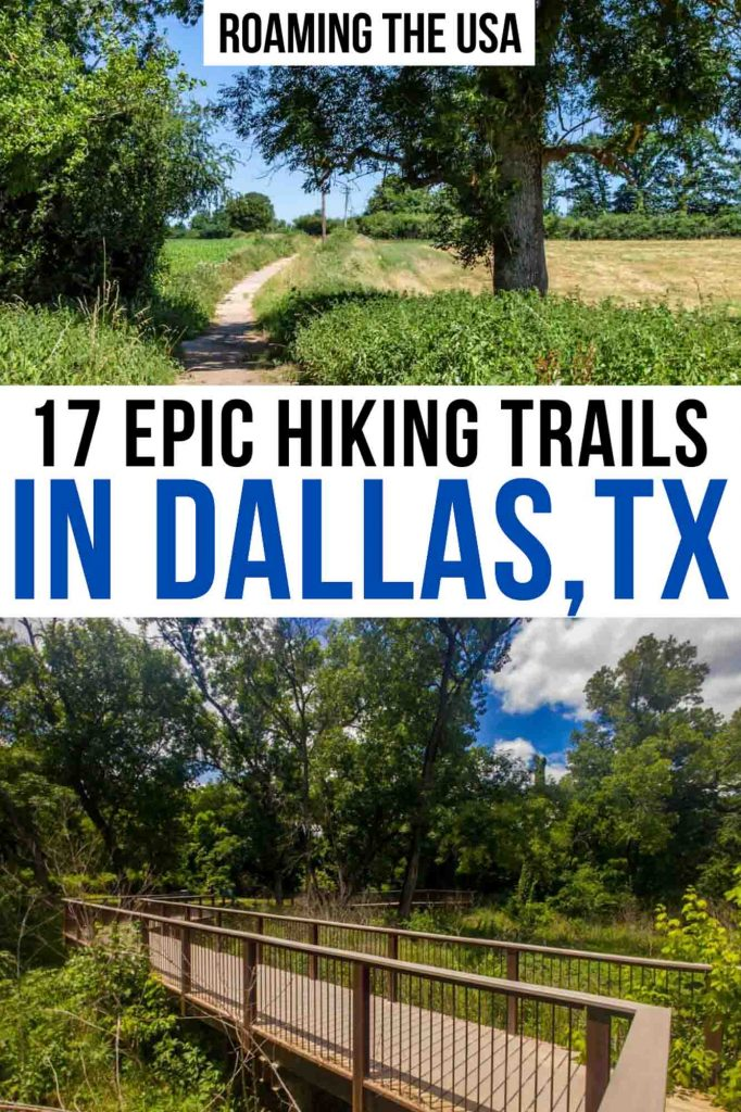 Hiking in Dallas Pinterest Graphic