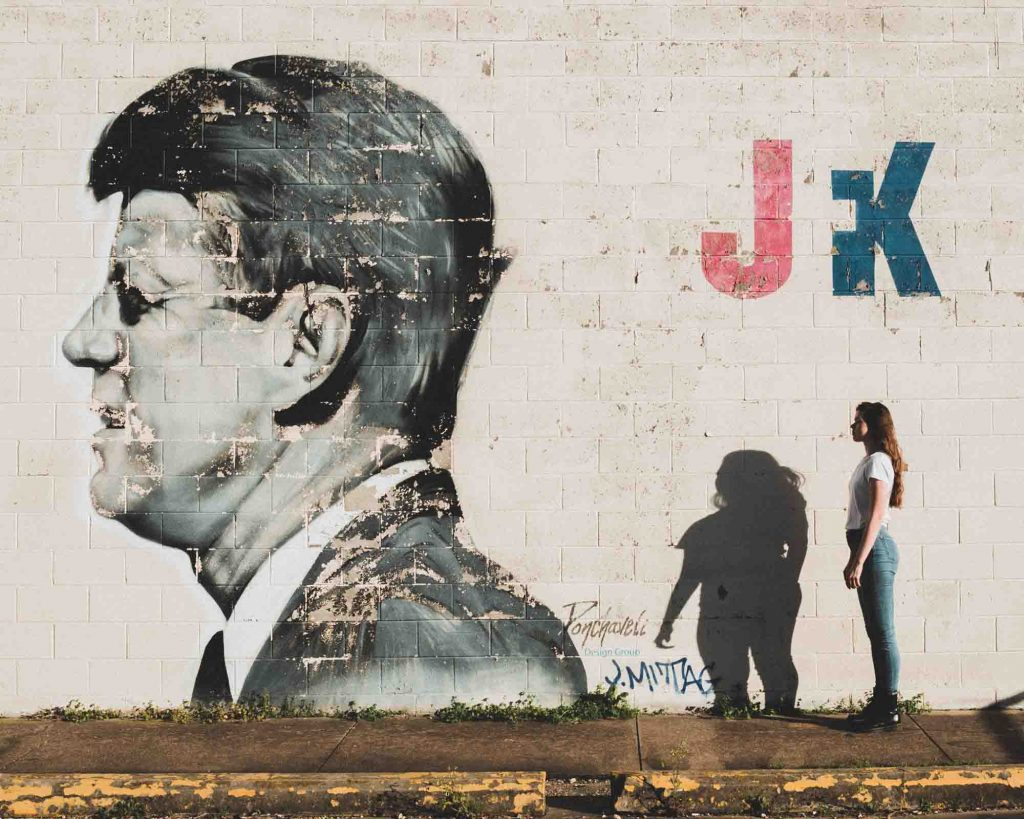 JFK Mural is one of the places to visit on your weekend in Dallas trip