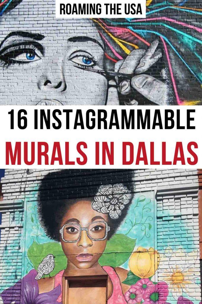 Dallas Murals Pinterest graphic