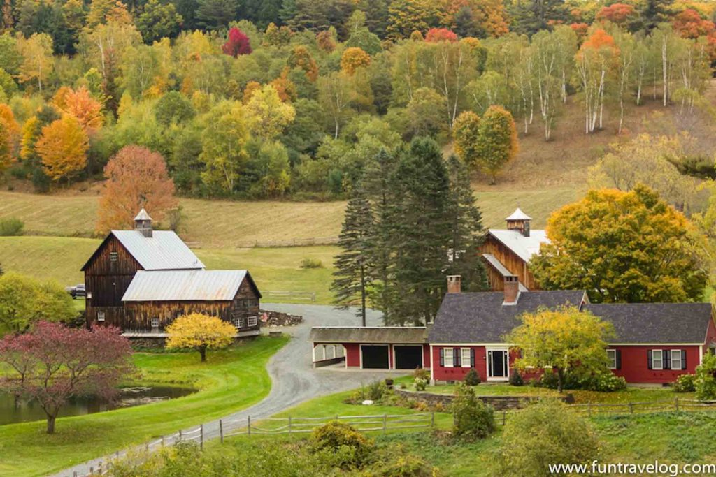 Woodstock, Vermont is one of the best fall vacations in the USA
