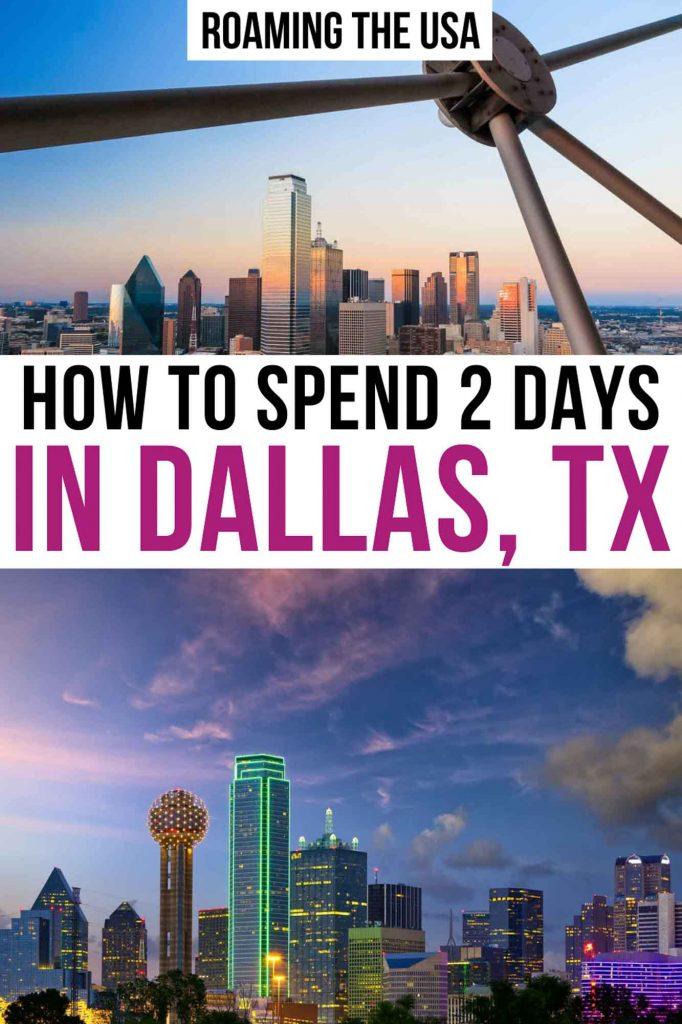 Weekend in Dallas Pinterest Graphic