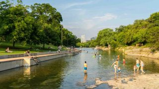 Barton Springs Pool is one of the best beaches in Austin