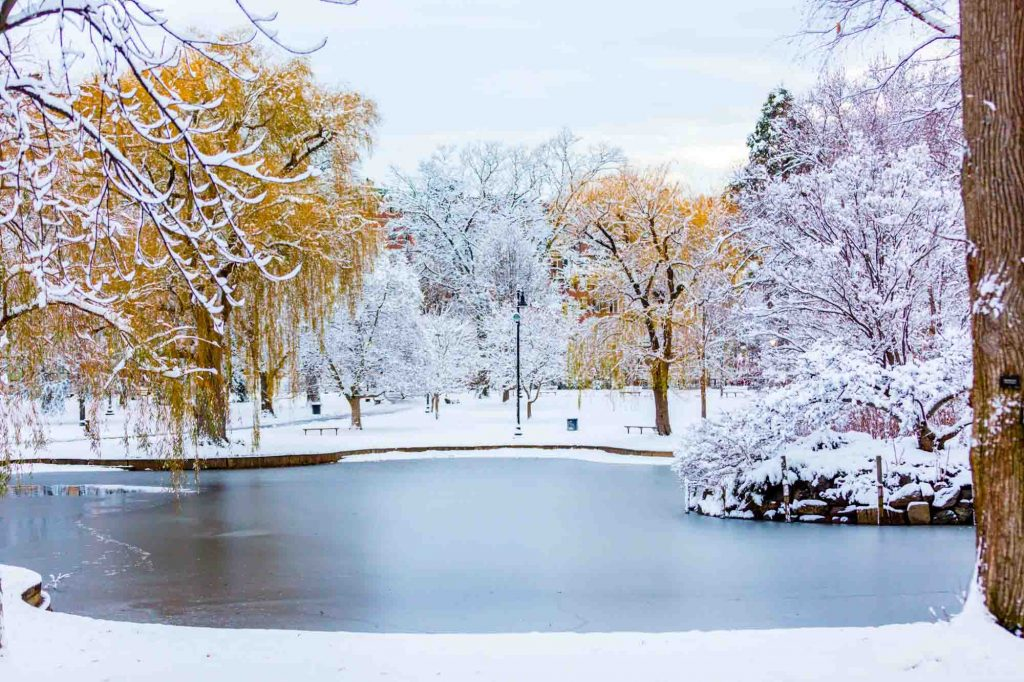 Boston, Massachusetts is one of the winter vacations in the US