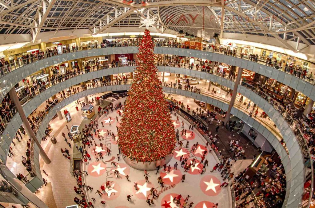 Decking the Malls with Boughs of Holly at the Galleria Dallas is one of the things to do at Christmas in Dallas