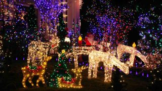 Going Holiday Lights Hunting on the Main Street is one of the best things to do at Christmas in Houston
